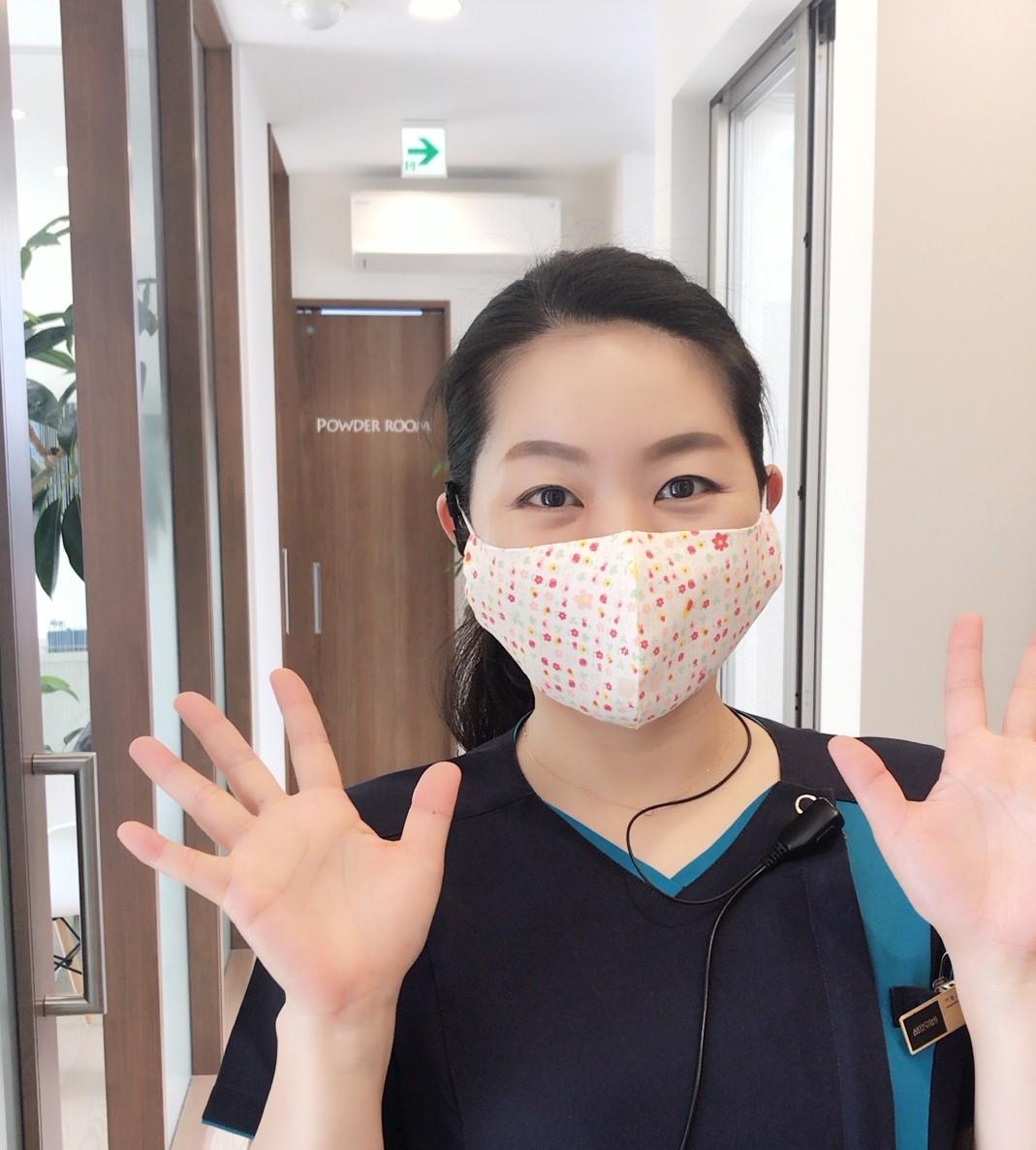 かわいい手作りマスクをいただきました!のイメージ